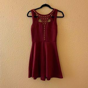 Charlotte Russe Studded Flare Dress